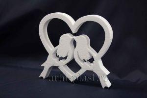 Заготовка из пенопласта для творчества голуби в сердце
