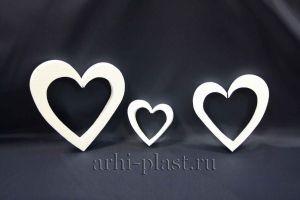 Заготовка из пенопласта для творчества сердце вид 3