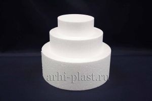 Заготовка из пенопласта для творчества торт диаметр 20, h-17 см
